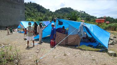 Pengungsi gempa Sulbar