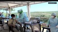 Suasana vaksinasi Covid-19 di Wunung Giri Séla Kandha (GSK), Gunungkidul. (dok. Biro Komunikasi Publik Kemenparekraf)