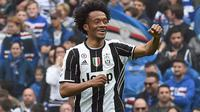 Pemain Juventus, Juan Cuadrado usai cetak gol ke gawang Sampdoria (Foto: Juventus FC)