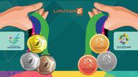 Banner Lonjakan Medali Indonesia di Asian Games 2018 (Liputan6.com/Abdillah)