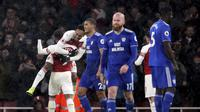 Arsenal mengalahkan Cardiff City 2-0 dalam laga lanjutan Premier League di Stadion Emirates, London, Rabu (30/1/2019) dini hari WIB. (Nick Potts/PA via AP)
