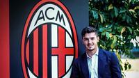 Gelandang anyar AC Milan Brahim Diaz. (www.instagram.com/acmilan)