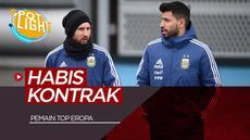 Berita video spotlight kali ini akan membahas pesepakbola top dunia yang kontraknya habis tahun depan, diantaranya ada Lionel Messi dan Sergio Aguero