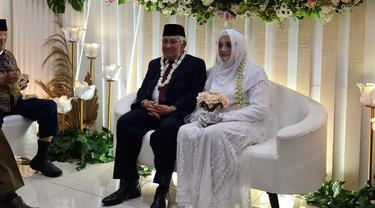 Mantan Ketua Umum Pimpinan Pusat Muhammadiyah Din Syamsuddin menikahi cucu pendiri Pondok Pesantren Gontor, Rashda Diana. (Foto: Istimewa)