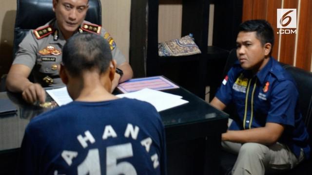 Polresta Tangerang menggelar tes kejiwaan terhadap WS alias Babeh tersangka pelaku Pedofilia terhadap 41 anak.