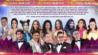 Semarak Indosiar 2021 ditayangkan dengan beragam tema live dari Studio Emtek City, Jakarta setiap malam mulai pukul 21.00 WIB