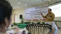 Badan Standardisasi Nasional (BSN) menggelar sosialisasi bertajuk Manfaat Standardisasi untuk Pemastian Mutu/ Keamanan Produk dan Daya Saing Industri/ UMKM kepada lebih dari 50 pelaku UKM di Jawa Timur. (Foto: Liputan6.com/Dian Kurniawan)