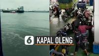 Video kepanikan saat kapal oleng viral di media sosial.