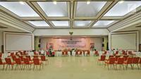 Suasana Pengajuan Bakal Calon Anggota DPR Pemilu Tahun 2019 di Kantor Komisi Pemilihan Umum (KPU) RI, Jakarta. (Liputan6.com/Herman Zakharia)