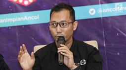Production Manager IEP (SCTV-INDOSIAR) Wahyu NurSubiyakto memberi keterangan saat jumpa pers Ancol Gempita Festival di kawasan Ancol, Jakarta, Rabu (27/12). (Liputan6.com/Herman Zakharia)