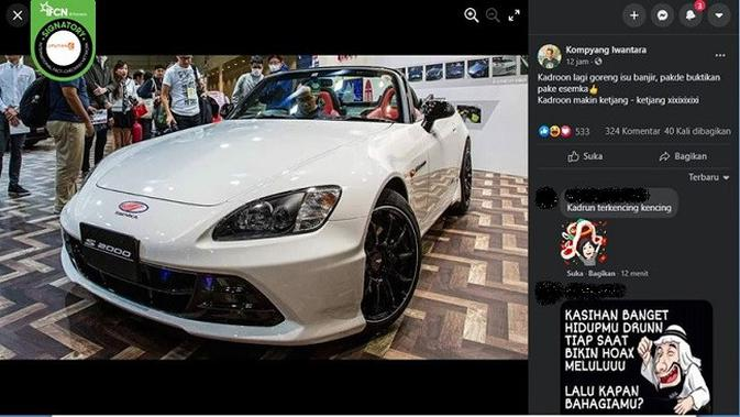 Gambar Tangkapan Layar Foto yang Diklaim Mobil Esemka (sumber: Facebook)