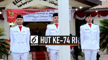 KJRI Jeddah di Arab Saudi menggelar upacara dalam rangka HUT ke-74 RI yang dipimpin langsung Menteri Agama Lukman Hakim Saifuddin.