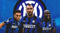 Inter Milan - Lautaro Martinez, Christian Eriksen, Romelu Lukaku (Bola.com/Adreanus Titus)