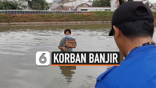 thumbnail nenek dan cucu tembus banjir