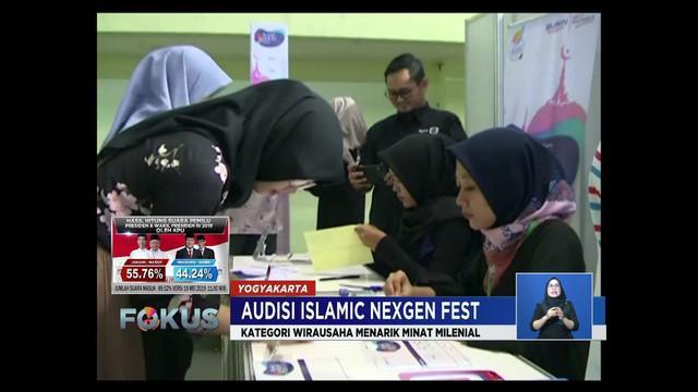 Ratusana muslimah di Yogyakarta ikuti audisi Islamic Nexgen Festival yang diseleksi langsung oleh Virgoun, Inez Tagor, dan Nilamsari.