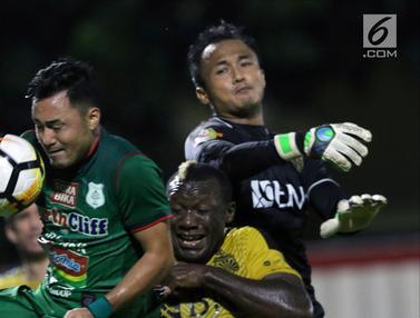 Babak Pertama, Bhayangkara FC Unggul 2-0 atas PSMS