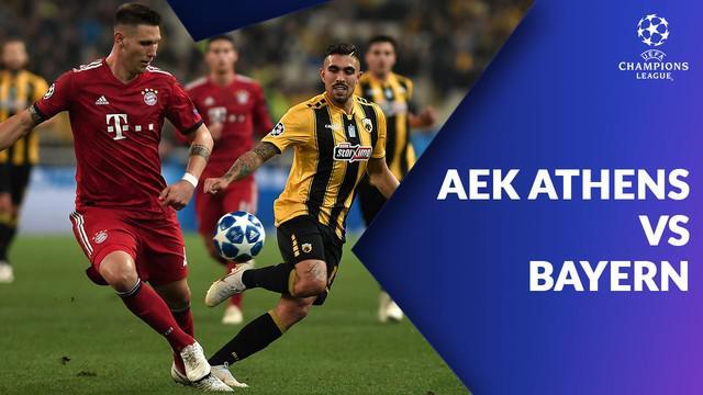 Bayern Munchen menang 2-0 atas AEK Athens dalam laga ketiga grup E di Stadion OACA Spyros Louis, Rabu (24/10/2018).