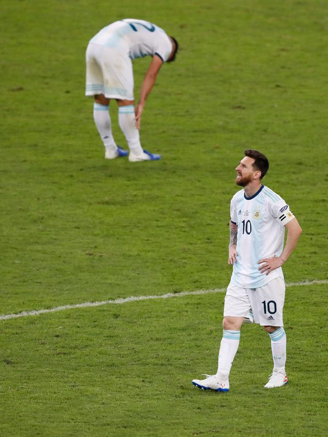 Wajah Lesu Messi Usai Argentina Dihajar Brasil