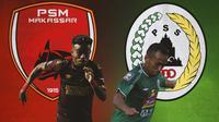 Piala Menpora - Yakob Sayuri Vs Irfan Jaya (Bola.com/Adreanus Titus)