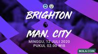 Premier League - Brighton & Hove Albion Vs Manchester City (Bola.com/Adreanus Titus)