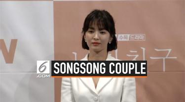 Song Hye-kyo menyebut Song Joong-ki ketika sesi tanya jawab dalam jumpa pers serial baru yang dibintanginya. Hye-kyo sedang menghapi perceraian dengan Song Joong-ki.
