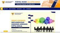 Portal UU Cipta Kerja kini bisa diakses masyarakat