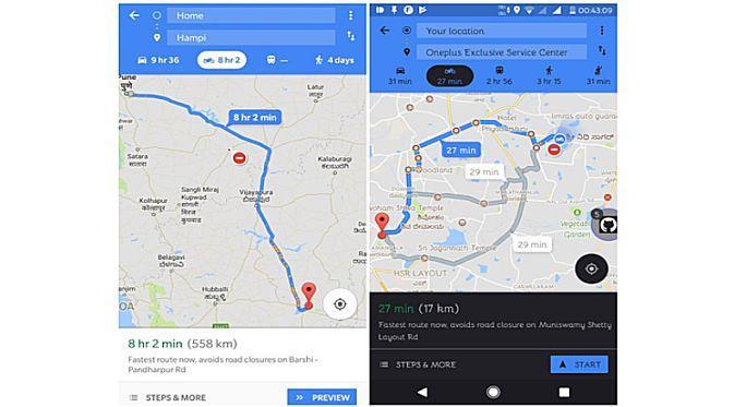 Google Maps kini punya fitur rute perjalanan untuk para pengendara motor (Foto: Android Police)