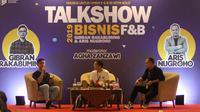Gibran Rakabuming Raka saat menjadi pembicara Talkshow Bisnis F&B di The Sunan Hotel Solo, Selasa (12/11).(Liputan6.com/Fajar Abrori)