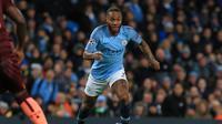 6. Raheem Sterling (Man City) - 12 gol dan 9 assist (AFP/Lindsay Parnaby)