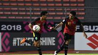 Pelatih Timnas Timor Leste, Norio Tsukitate, memuji semangat juang yang ditunjukkan anak asuhnya ketika kalah 2-3 dari Filipina pada laga ketiga Piala AFF 2018. (dok. AFF)