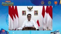 Menteri Perhubungan (Menhub) Budi Karya Sumadi menyapa para taruna dan taruni perguruan tinggi di lingkup Kementerian Perhubungan. (Dok Kemenhub)