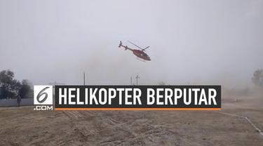 Sebuah helikopter hilang kendali saat mendarat di Desa Alwar Ladpur, India. Helikopter mengangkut seorang politikus bernama Mahant Balaknath.