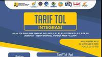 Tarif Tol Terintegrasi Resmi Berlaku 22 September (Foto: Istimewa)