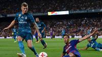 Toni Kroos menjadi tumpuan di lini tengah Real Madrid bersama Luka Modric, Casemiro dan Isco Alarcon.