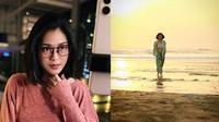 Prisia Nasution dengan gaya rambut pendek. (Instagram/@prisia)