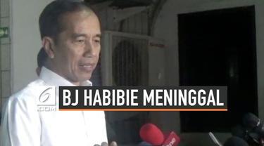 Presiden Joko Widodo menyampaikan belasungkawanya atas meninggalnya BJ Habibie, Presiden ke-3 RI.