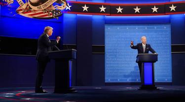FOTO: Debat Perdana Calon Presiden Amerika Serikat