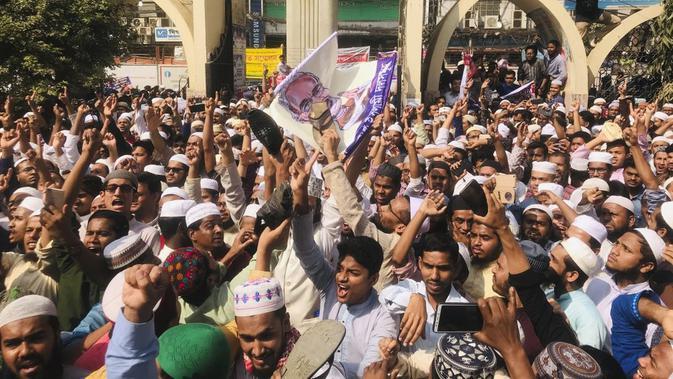 Protes Kerusuhan India, Ribuan Warga Muslim Bangladesh Turun ke Jalan - Global Liputan6.com