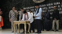 Pemprov DKIJakarta menggelar forum penandatanganan Nota Kesepahaman (MoU) dengan 8 perusahaan rintisan (startup) di Balai Agung, Gedung Balai Kota, Jakarta Pusat.