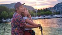 Mengenang kemesraan Gisella Anastasia dan Gading Marten saat liburan ke Italia. (instagram/gadiiing)