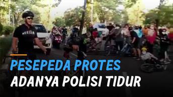 VIDEO: Viral Pesepeda Protes Adanya Polisi Tidur Tinggi di Jalan, Tuai Komentar Netizen