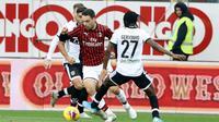 AC Milan meraih kemenangan 1-0 atas Parma pada laga pekan ke-14 Serie A di Stadio Ennio Tardini, Minggu (1/12/2019). (Serena Campanini/ANSA via AP)