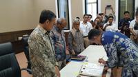 Penandatanganan kontrak bagi hasil Gross Split Blok Corridor yang berlokasi di Kabupaten Musi Banyuasin, Sumatera Selatan.