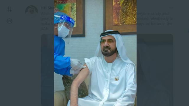 Perdana Menteri UEA Sheikh Mohammed mendapat vaksin COVID-19.