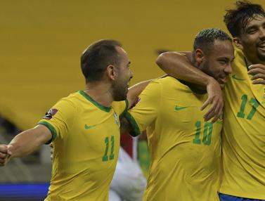 Foto: Bungkam Peru 2-0, Brasil Masih Sempurna di Kualifikasi Piala Dunia 2022 Zona Conmebol