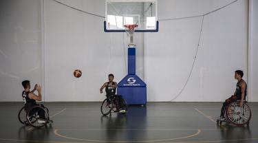 Latihan Basket Kursi Roda