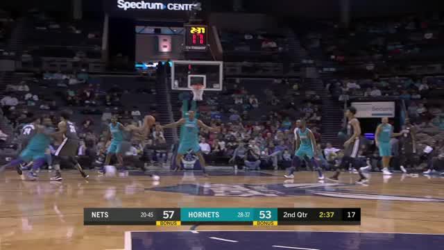 Berita video game recap NBA 2017-2018 antara Brooklyn Nets melawan Charlotte Hornets dengan skor 125-111.