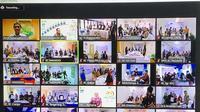 Akad Serentak 2.500 Nasabah Rumah Bersubsidi Pemerintah digelar lewat video conference dan disaksikan oleh Direktur Bisnis Ritel BRIsyariah, Fidri Arnaldy, dan Direktur Utama Pusat Pengelolaan Dana Pembiayaan Perumahan (PPDPP) Kementerian Pekerjaan Umum dan Perumahan Rakyat (PUPR).