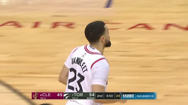 Berita video game recap NBA 2017-2018 antara Cleveland Cavaliers melawan Toronto Raptors dengan skor 128-110.