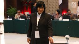 Salah satu kandidat menjalani tes wawancara dan uji publik Calon Pimpinan Komisi Pemberantasan Korupsi (Capim KPK) periode 2019-2023 di Kementerian Sekretariat Negara, Jakarta, Kamis (29/8/2019). Enam orang capim KPK yang tersisa menjalani uji publik hari ketiga. (Liputan6.com/Angga Yuniar)